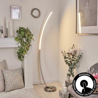 KIMBOLTON Floor Lamp LED matt nickel, 1-light source