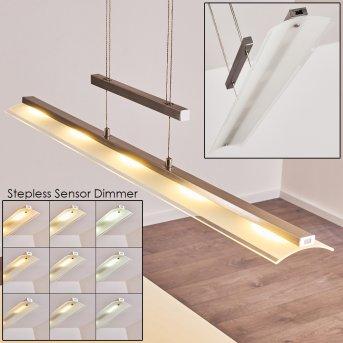 Hogana Pendant Light LED stainless steel, 5-light sources