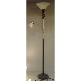 Trio 6102 floor lamp rust-coloured, 2-light sources