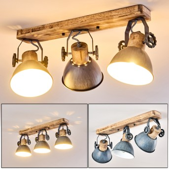 Orny Ceiling Light Light wood, 3-light sources
