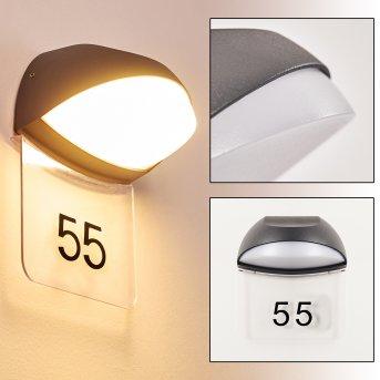 TANGURO lighted house number LED black, 1-light source