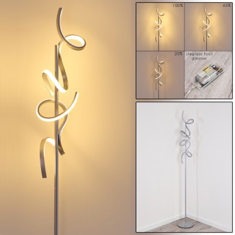 LAVACA Floor Lamp LED silver, 2-light sources