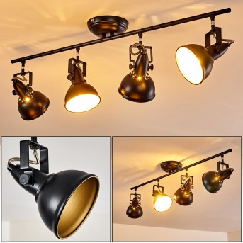 Ceiling Light Tina black, 4-light sources