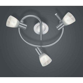 Trio LEVISTO ceiling spotlight LED matt nickel, 3-light sources
