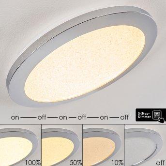 FASOLA Ceiling light LED polished nickel, 1-light source