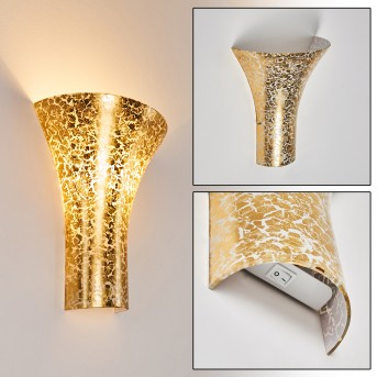 NEROLA Wall Light gold, 1-light source