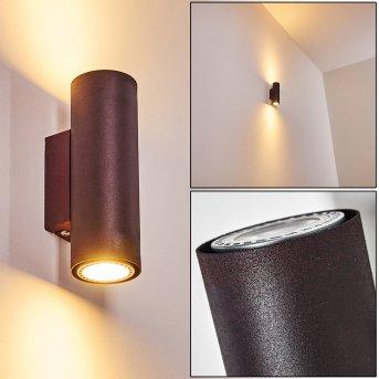 Zuoz Wall Light rust-coloured, 2-light sources