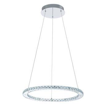 Eglo VARRAZO pendant light LED chrome, Crystal optics, 1-light source