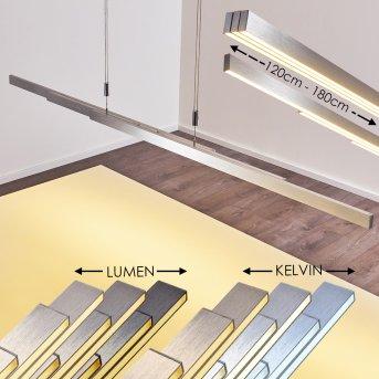 Airolo Pendant Light LED matt nickel, chrome, 3-light sources