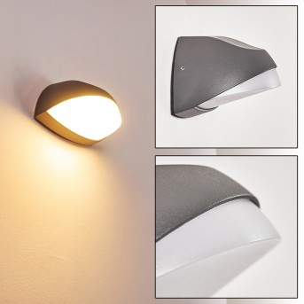 TANGURO Outdoor Wall Light LED black, 1-light source
