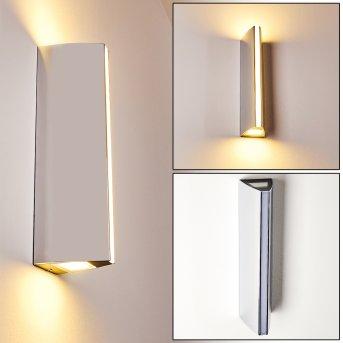 ROTTERDAMM Outdoor Wall Light LED chrome, 1-light source