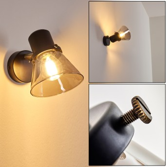 ABEL Wall Light black-gold, 1-light source