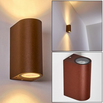 NORRELOGUM Outdoor Wall Light rust-coloured, 2-light sources