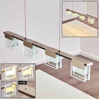 AADORF Pendant Light LED matt nickel, 4-light sources
