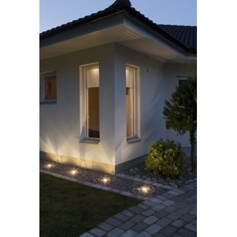 Konstsmide recessed ground light LED aluminium, 3-light sources