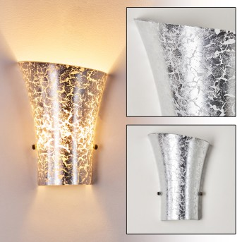 TERNI Wall Light silver, 1-light source