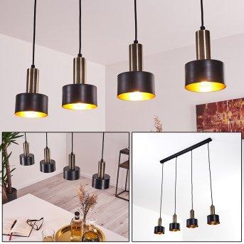 Pretoria Pendant Light LED brass, black, 4-light sources