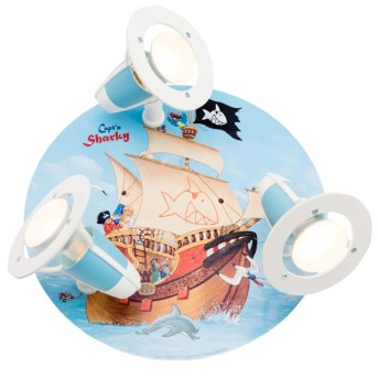 Elobra SEE Spotlights blue, 3-light sources