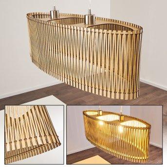 TIMMELE Pendant Light Light wood, 2-light sources