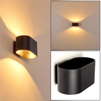 Wall Light Dapp black, 1-light source