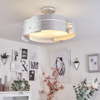 Novara ceiling light silver, 3-light sources
