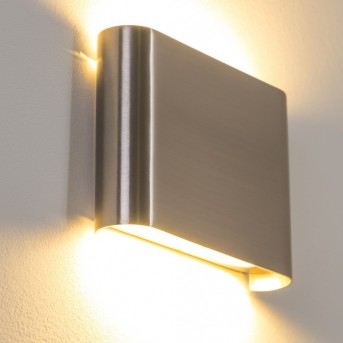 Galindo wall light LED brushed steel, 1-light source