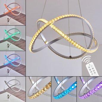 Saginaw Pendant Light LED matt nickel, 1-light source, Remote control, Colour changer
