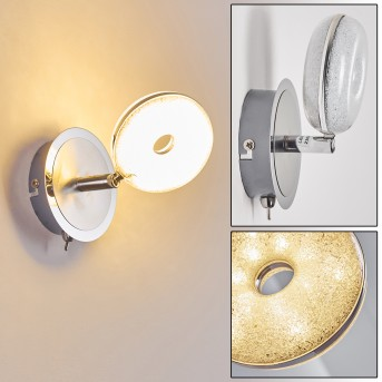 Donot Wall Light LED matt nickel, chrome, 1-light source