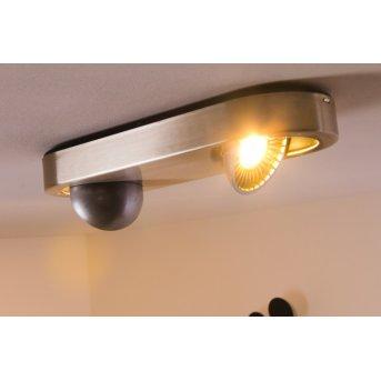 Granada ceiling light LED matt nickel, 2-light sources