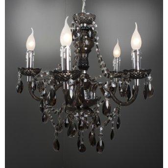 Reality Delhi chandelier black, 5-light sources