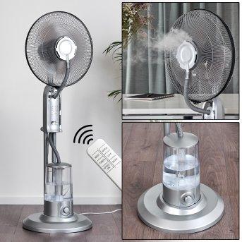 MILAU standing fan grey, silver, Remote control