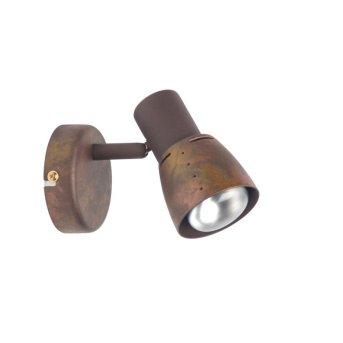 Brilliant LAVA wall spotlight copper, 1-light source
