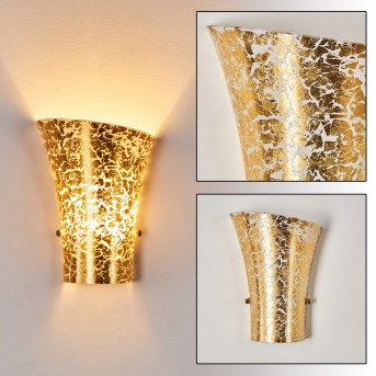 TERNI Wall Light gold, 1-light source