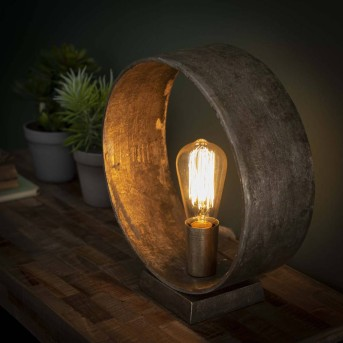 GORREDIJK Table Lamp rust-coloured, 1-light source