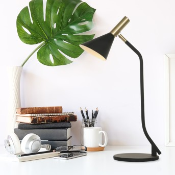 Steinhauer Anne's choice Table lamp LED brass, black, 1-light source