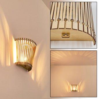TIMMELE Wall Light Light wood, 1-light source