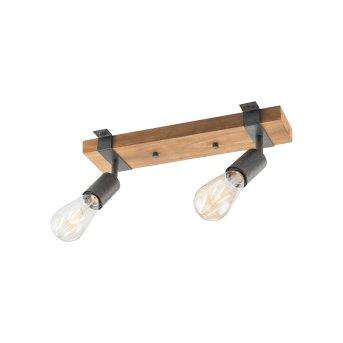 Leuchten-Direkt SLAT Ceiling Light brown, Dark wood, 2-light sources