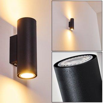 Zuoz Wall Light black, 2-light sources