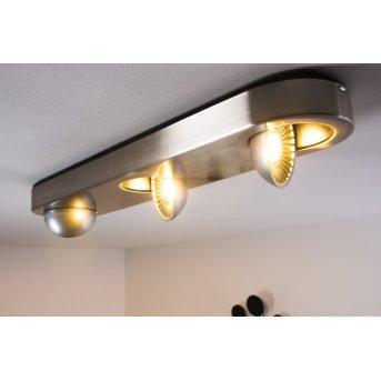 Granada ceiling light LED matt nickel, 3-light sources