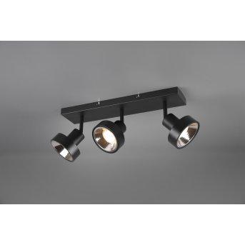 Trio LEON Spotlight LED black, 3-light sources