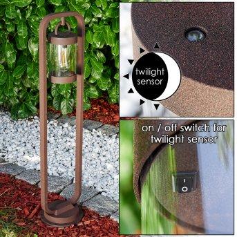 Outdoor floor lamp Fulham rust-coloured, 1-light source