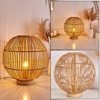OLKMONT Table lamp light brown, 1-light source