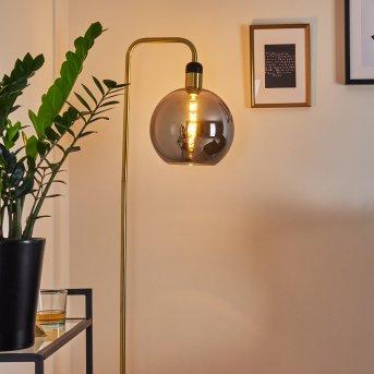 TUVALU Floor Lamp brass, black, 1-light source
