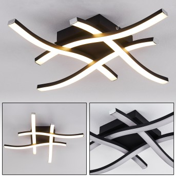 LETALA Ceiling Light LED black, 4-light sources