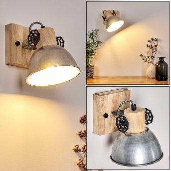 ORNY Wall Light brown, galvanized, 1-light source