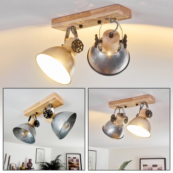 ORNY Ceiling Light brown, galvanized, 2-light sources