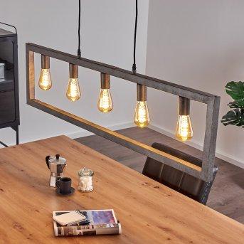 KOKKOLA Pendant Light black, 5-light sources