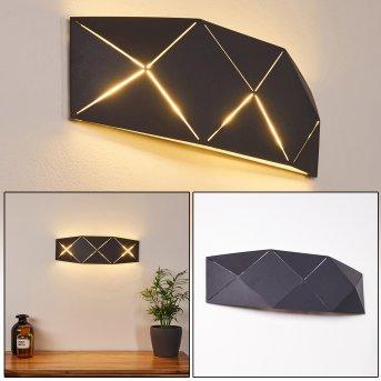 SHOUVER Wall Light LED black, 1-light source