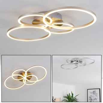 MALANJE Ceiling Light LED matt nickel, 4-light sources