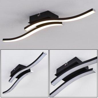 LETALA Ceiling Light LED black, 2-light sources